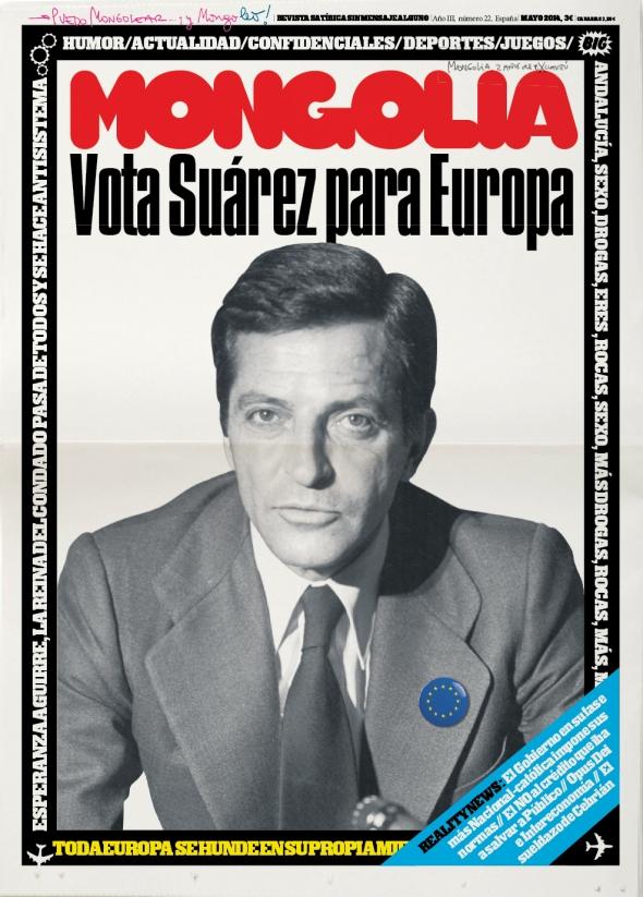 Portada Revista Mongolia número 22: Vota a Suárez para Europa