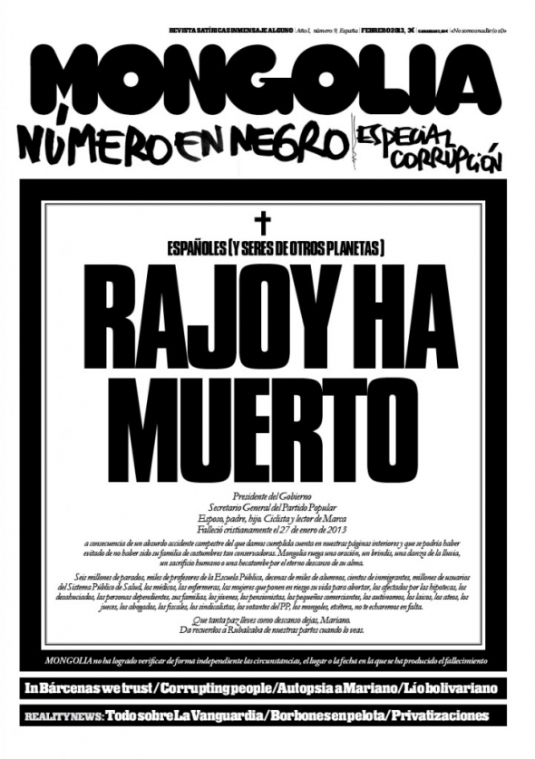 Rajoy ha muerto