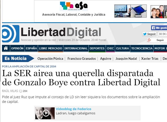 Sobre la denuncia a libertad digital por gonzalo boye for Ultima hora sobre clausula suelo